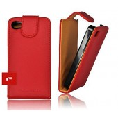 HOUSSE ETUI COQUE PROTECTION ASPECT CUIR ★★★ IPHONE 4 4S ★★★ ROUGE RED CASE