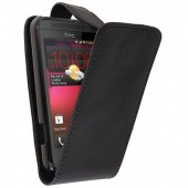 HOUSSE COQUE ETUI A CLAPET ★★ HTC DESIRE 200 ★★ FLIP COVER BLACK CASE