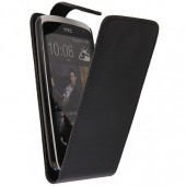 HOUSSE COQUE ETUI A CLAPET ★★ HTC DESIRE 500 ★★ FLIP COVER BLACK CASE