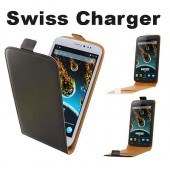 HOUSSE COQUE ETUI PROTECTION A CLAPET ★★ WIKO DARKSIDE ★★ SWISS CHARGER CASE