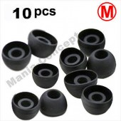 X10 EMBOUTS SILICONE ECOUTEURS INTRA AURICULAIRES ★ IPHONE 3GS 4 4S   ★ NOIR M