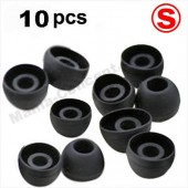 X10 EMBOUTS SILICONE ECOUTEURS INTRA AURICULAIRES ★ SAMSUNG APPLE SONY ★ NOIR S