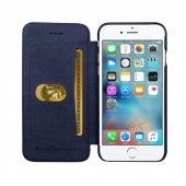 HOUSSE ETUI COQUE ★★ GCASE SERIE BUSINESS ★★ IPHONE 7 ★ FOLIO COVER BLEU NUIT