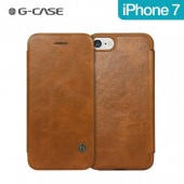 HOUSSE ETUI COQUE ★★ GCASE SERIE BUSINESS ★★ IPHONE 7 ★ FOLIO COVER BROWN