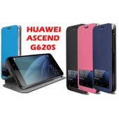 COQUE ETUI HOUSSE CASE FOLIO SLIM ★★ HUAWEI ASCEND G620S ★★ ECRAN SMART VIEW