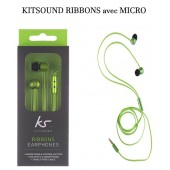 KIT PIETON ECOUTEURS MICRO ★ KITSOUND  RIBBONS ★ INTRA AURICULAIRE VERT