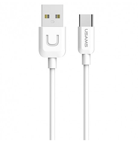 CABLE USB TYPE C USAMS U-TURN SERIES US-SJ099 BLANC WHITE