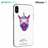 Coque TOTU DESIGN IPHONE X - Coque verre trempée Motif LICORNE