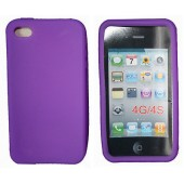 HOUSSE ETUI COQUE PROTECTION SILICONE ★★ IPHONE 4 4 4S ★★VIOLET PURPLE