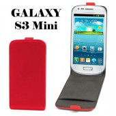 HOUSSE COQUE ETUI CLAPET ★★ SAMSUNG GALAXY S3 MINI I8190 ★★ FLIP COVER RED CASE