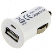 CHARGEUR VOITURE USB ★ IPHONE 5 5S 5C SE ★ Allume Cigare BLANC CAR CHARGER