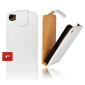 Housse Coque Etui Simili CUIR Forcell IPHONE 4 4S 4G BLANC White Case
