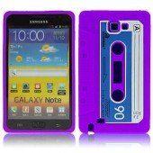 HOUSSE ETUI COQUE SILICONE ★ SAMSUNG GALAXY NOTE i9220 N7000 CASSETTE K7 VIOLET