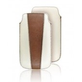 Housse Etui Pochette souple ★★ IPHONE4 4S ★★ Duo Blanc