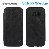 HOUSSE ETUI COQUE ★ GCASE BUSINESS FOLIO ★★ SAMSUNG GALAXY S7 EDGE ★ COVER NOIR