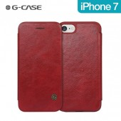 HOUSSE ETUI COQUE ★★ GCASE SERIE BUSINESS ★★ IPHONE 7 ★ FOLIO COVER ROUGE
