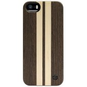 COQUE ARRIERE BOIS WENGÉ 2 TEXTURES TREXTA ★ IPHONE 5 5S ★ REAL WOOD STRIPES