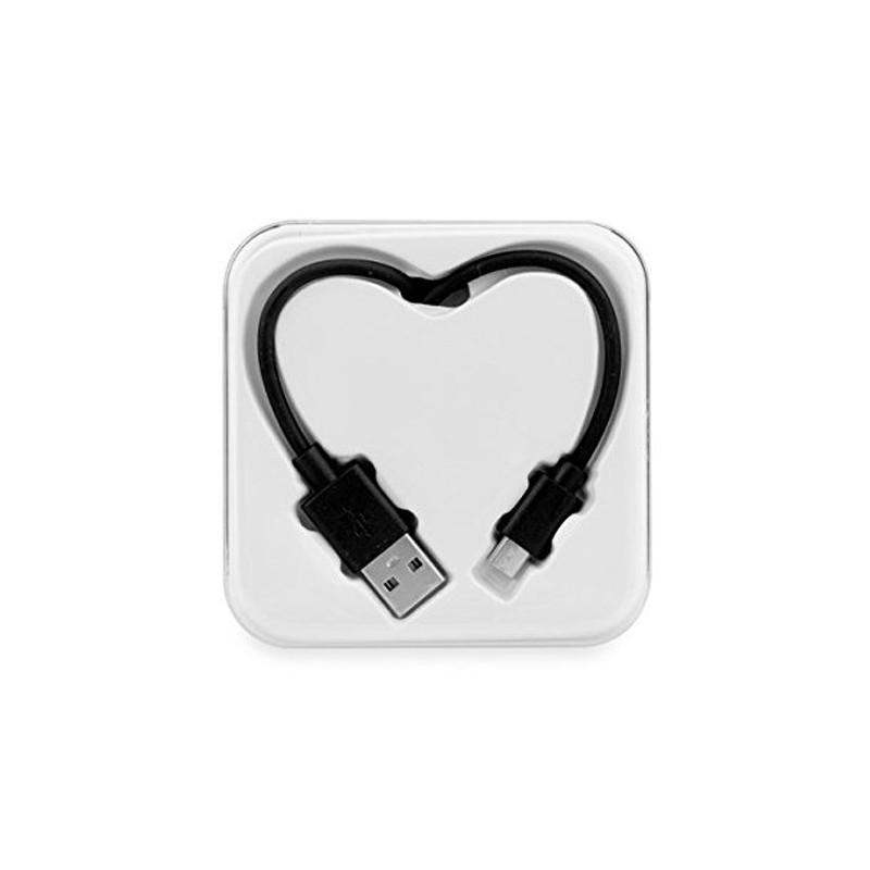 CABLE MICRO USB ★ BOITE COEUR NOIR ★ SAMSUNG  HTC  HUAWEI WIKO LUMIA LG...