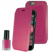 HOUSSE COQUE ETUI ★★ MUVIT FRANCE ★★ IPHONE 6  6S ★★ FUSHIA AVEC VERNIS ASSORTI