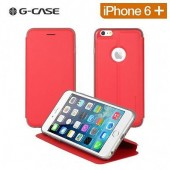 HOUSSE ETUI FOLIO ★★ G CASE BREATHE ★ IPHONE 6 PLUS ET 6S PLUS ★ RED ASPECT CUIR