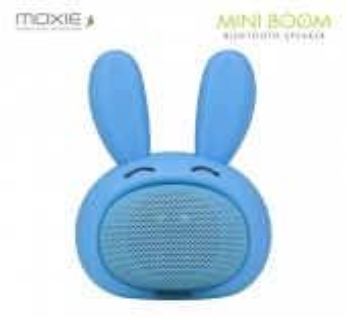 PROMO -- MINI ENCEINTE BLUETOOTH ★ MINI BOOM By MOXIE ★ DESIGN LAPIN BLEU