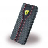 HOUSSE COQUE ETUI FOLIO ★ FERRARI ORIGINAL ★ IPHONE 7 ★ NOIR CARBONE