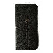 HOUSSE ETUI FOLIO ★ HAOYE CASE ★ IPHONE 7 ★ NOIR ASPECT CUIR