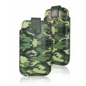 HOUSSE ETUI POCHETTE ★★ POUCH ARMY ARMEE CAMOUFLAGE ★★SAMSUNG GALAXY A3 ★★ VERT
