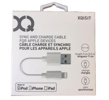 XQISIT - MFI ★ CABLE USB CHARGE SYNCHRO 9CM LIGHTNING IPHONE 5 5C 5S SE 6 6S
