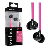 KIT PIETON ECOUTEURS STEREO ★ VEHO Z-1 Rose ★ INTRA AURICULAIRE - Anti-Bruit