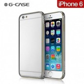 HOUSSE ETUI COQUE ★★  BUMPER G-CASE ★ IPHONE 6 4.7 ★ VERITABLE ALUMINIUM GRIS