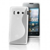 HOUSSE ETUI COQUE SILICONE ★ HUAWEI ASCEND W1 ★ TPU S-LINE TRANSPARENT CASE