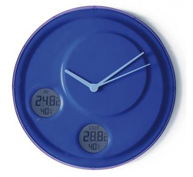 LEXON  LR137 - Flow Horloge Murale + Degrés Int / Extérieur + Humidité - Bleu