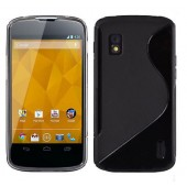 HOUSSE ETUI COQUE SILICONE ★ LG GOOGLE NEXUS 4 ★ TPU S-LINE TRANSPARENT CASE