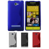 HOUSSE ETUI COQUE SILICONE ★★ WINDOWS PHONE HTC 8S ★★ TPU S-LINE WAVE CASE
