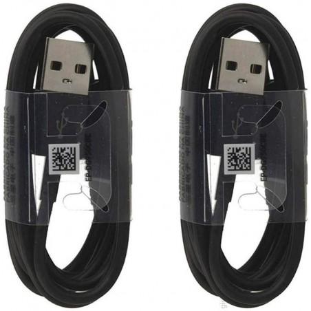 Pack X2 Cables Samsung - USB-C -  EP-DG950CBE  - Galaxy S8 / S8+ Noir