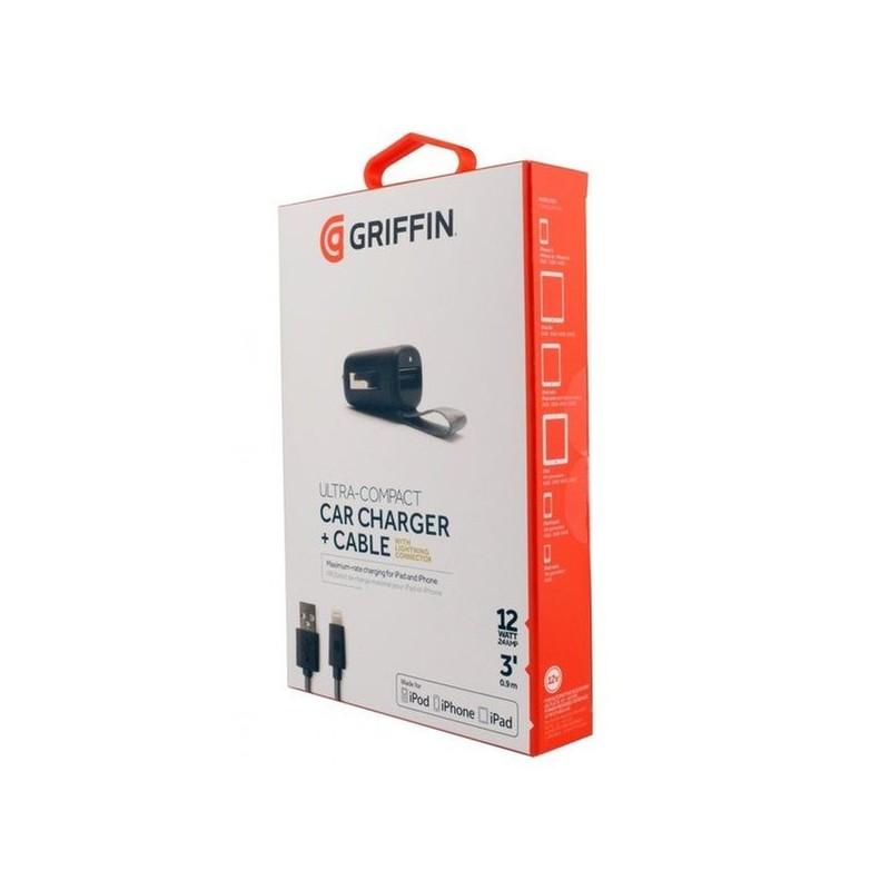 GRIFFIN - Power Jolt - Chargeur Voiture MFI + Cable Lightning - 12Watt